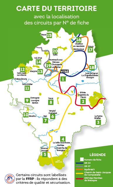 Carte Bretagne Randonnee.Circuits De Randonnees Sentiers Pedagogiques