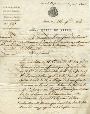 Archives de Vitré_1 M169 estimation du château nomination d'un expert