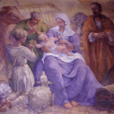 Eglise Saint-Martin, Nativité par Louis Garin, cl Mairie de Vitré
