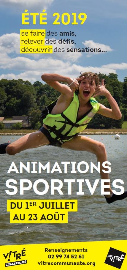 flyer animations sportives Vitré Communauté
