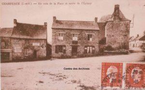 Champeaux Place et route de L'Epinay
