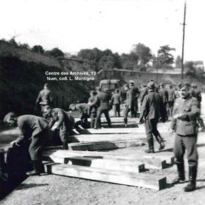 Soldats allemands - Gare de Vitré