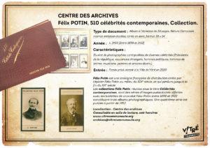 Félix POTIN, 510 célébrités contemporaines, Collection.
