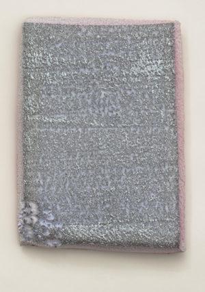 Altération 12 janvier 2015, 32 x 27 x 3 cm, peinture, cire, impacts, polystyrène